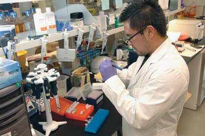National Institutes of Health  Scientific work like that of this medical laboratory scientist is under threat, due to the degeneration of education in the United States.
