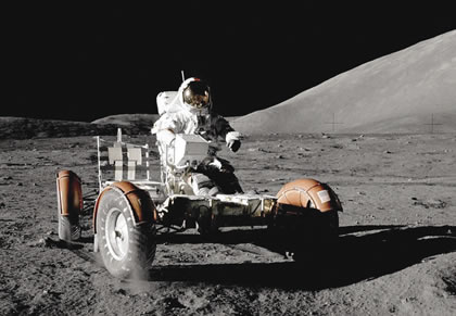 NASA Apollo 17 lunar roving vehicle.