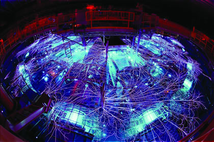 "NASA The continued survival of mankind exists depends upon the vigorous advance of an increase in power, as defined by nuclear fission and thermonuclear fusion. Shown: Sandia National Laboratories' ""Z Machine,"" the world's largest X-ray generator, which, it is hoped, will, one day, ignite a nuclear fusion reaction."