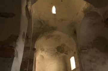 """Interieur de la """"plus petite cathédrale du monde""""."""