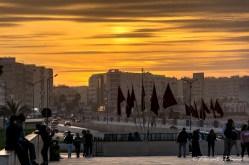 Casablanca au couché du soleil