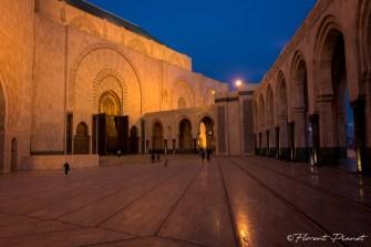 Éclairage nocturne de la mosquée Hassan II