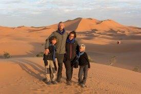 Nous dans le désert.
