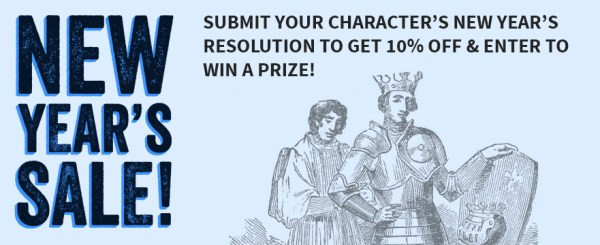 New Years Resolutions Larp Shop Contest & Sale! | LARPING.ORG
