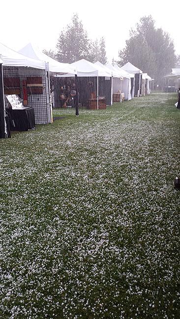 hail storm Sun Valley