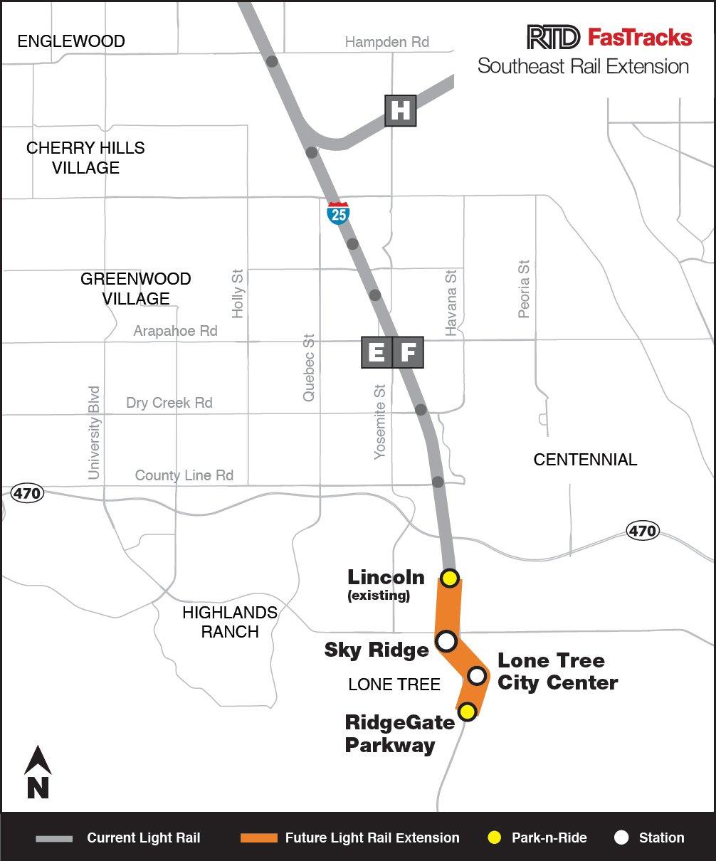 Rtd Light Rail Map