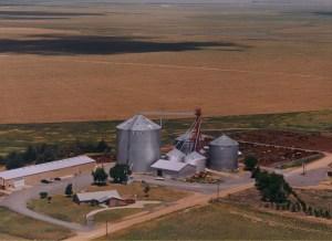 Mackey Farm from the air taken around 1998.