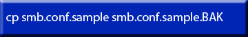 Command Line Backup smb.conf