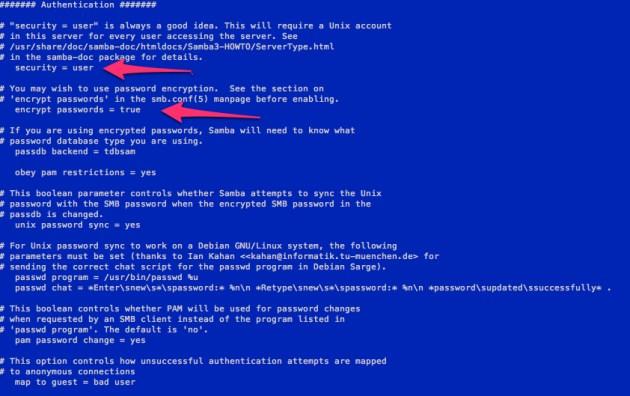 Sample smb.conf file part 2