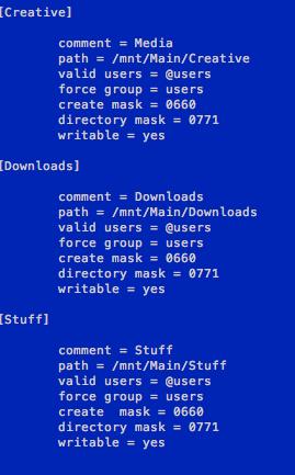 Sample smb.conf file part 4
