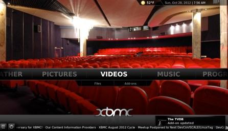 XMBC Screen Shot 1