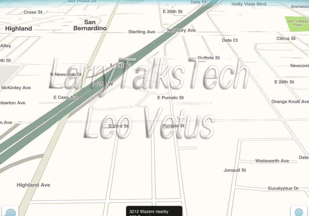 Waze Map Interface