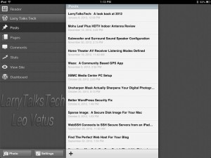 """WordPress for iOS """"Posts"""" page"""