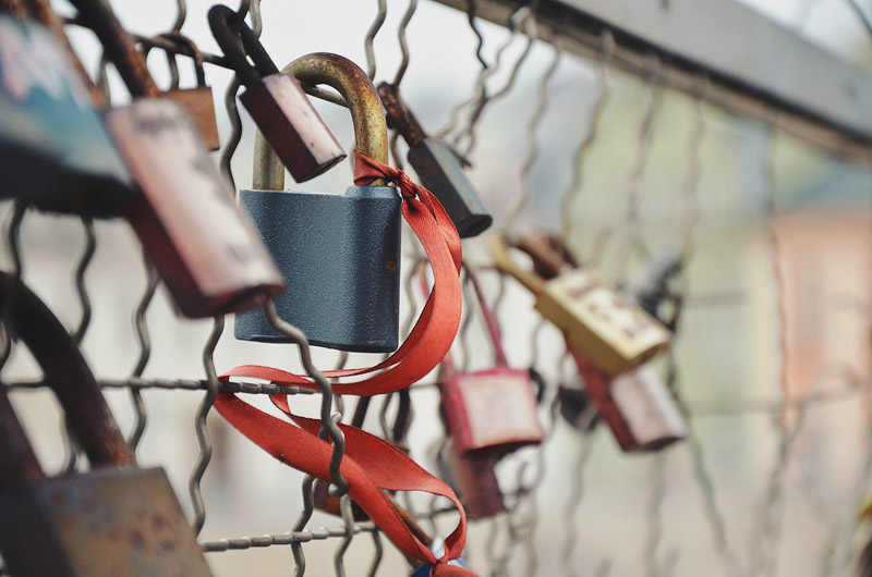 Locks On A Fence | larrytalkstech.com