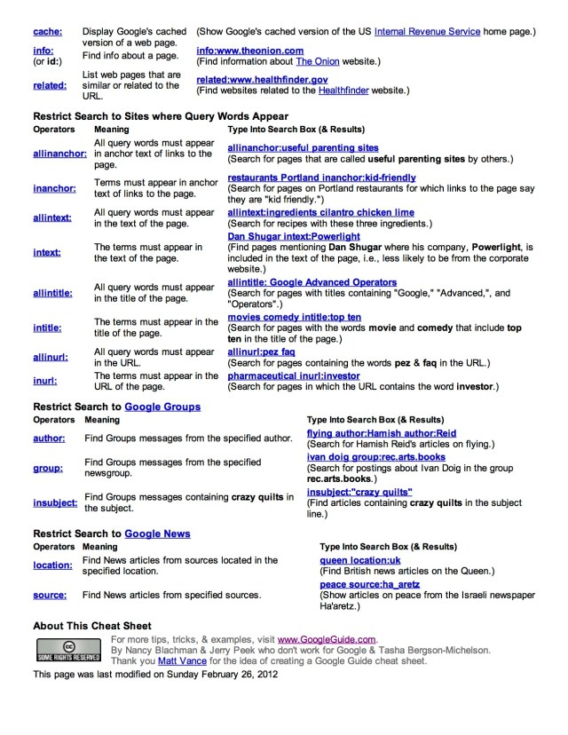 Google Search Reference Page 2 | l larrytalkstech.com