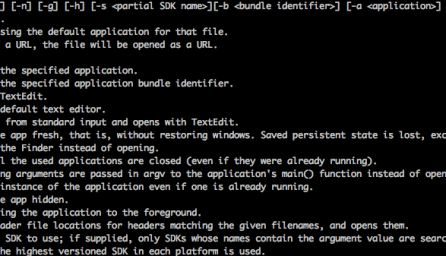 """Open"" Command Options"