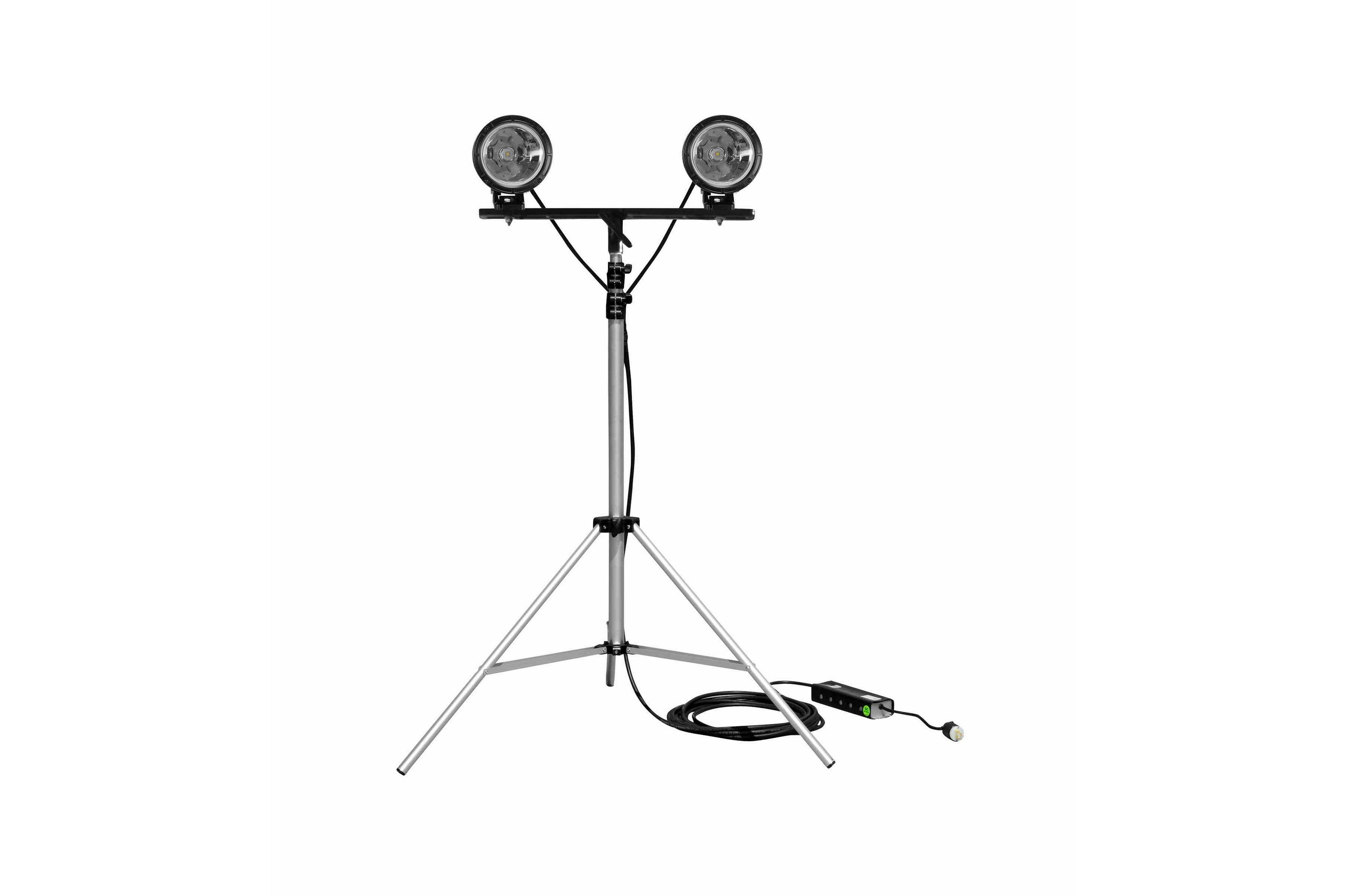 50w Dual Led Work Light W Adjustable 3 5 10 Tripod Mount