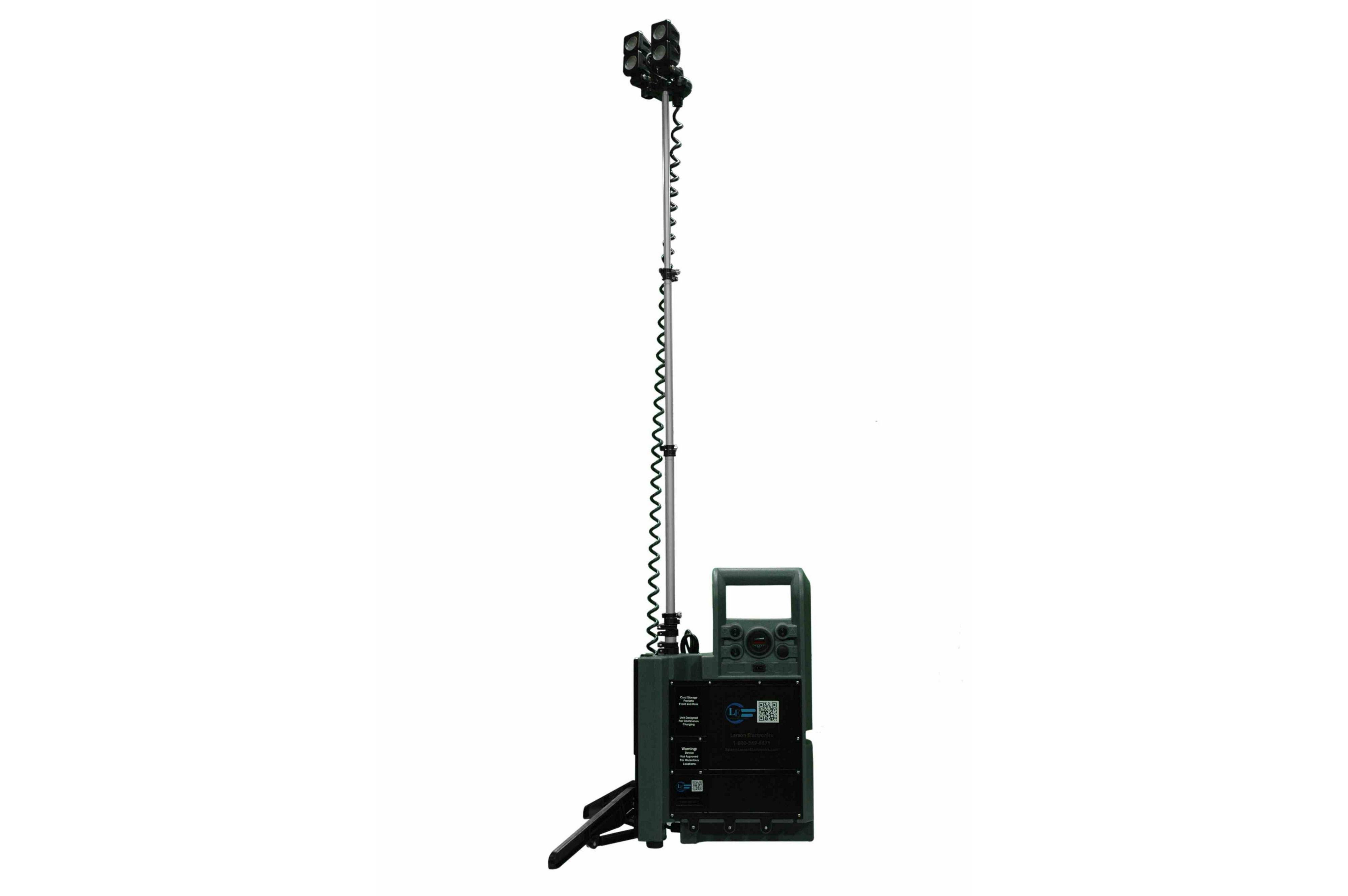 Portable Led Light Tower W Telescoping Light Heads
