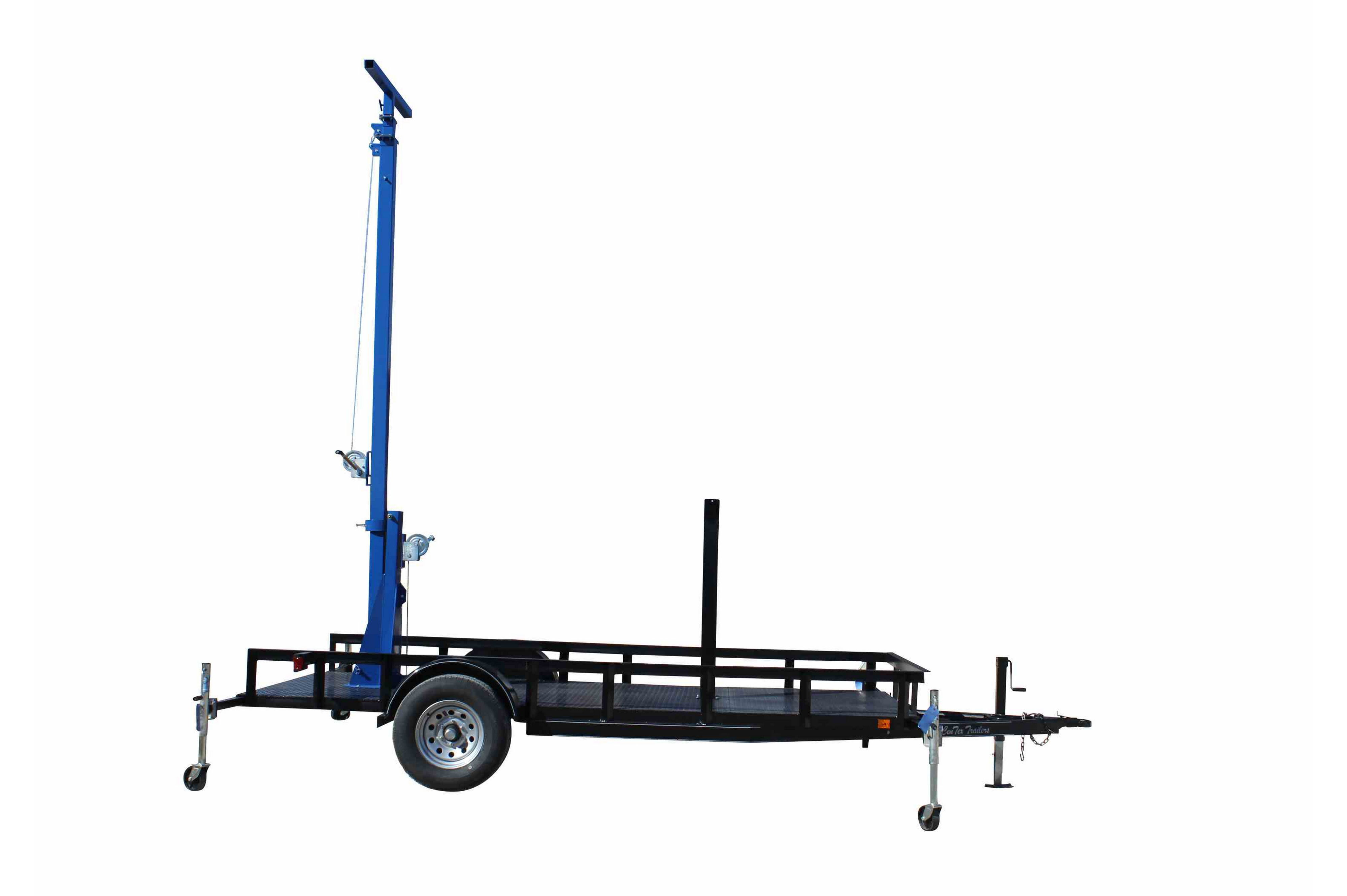 Three Stage Light Mast On 14 Foot Single Axle Trailer With