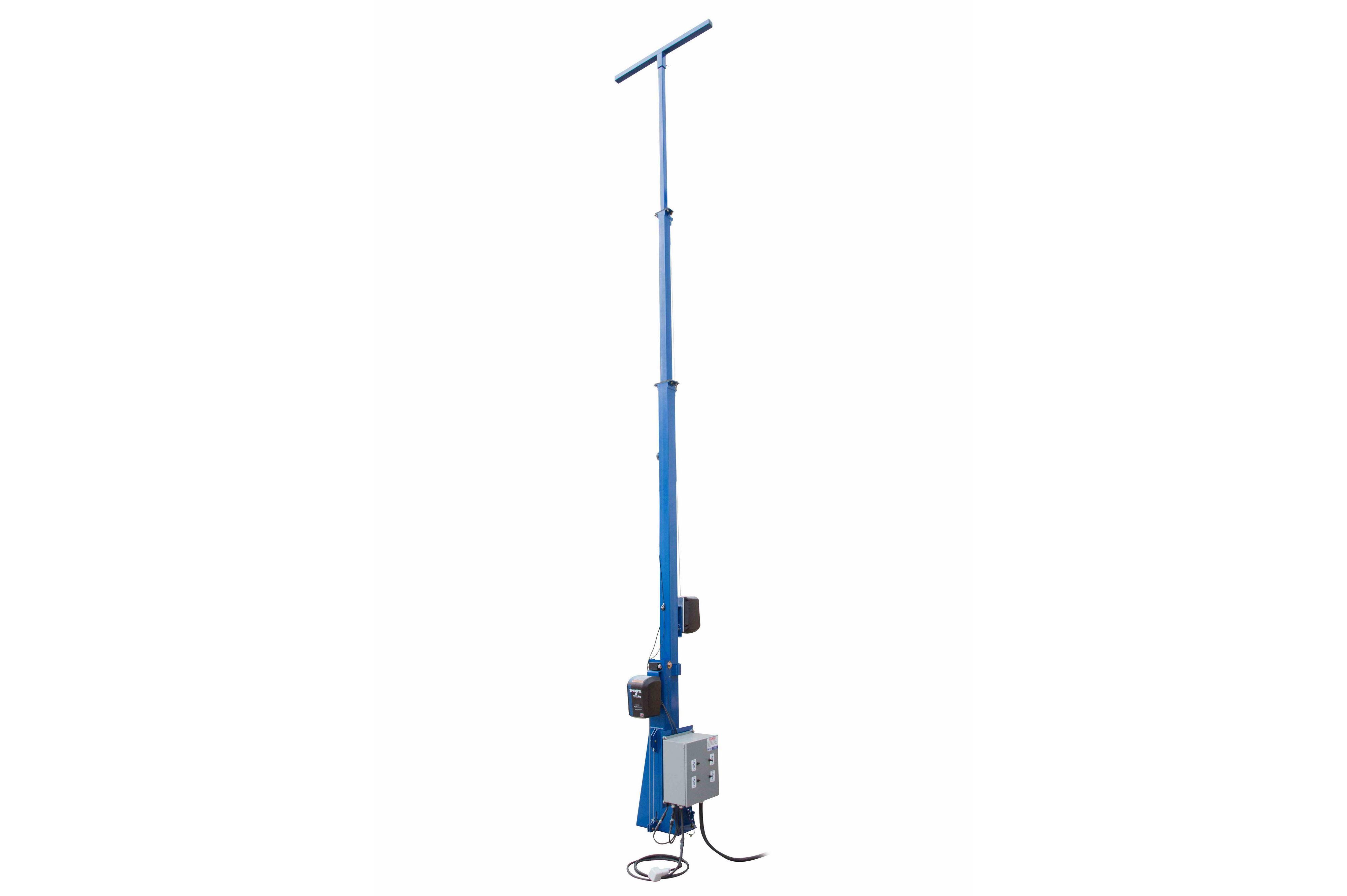 20ft Light Mast W Electric Winch Operation