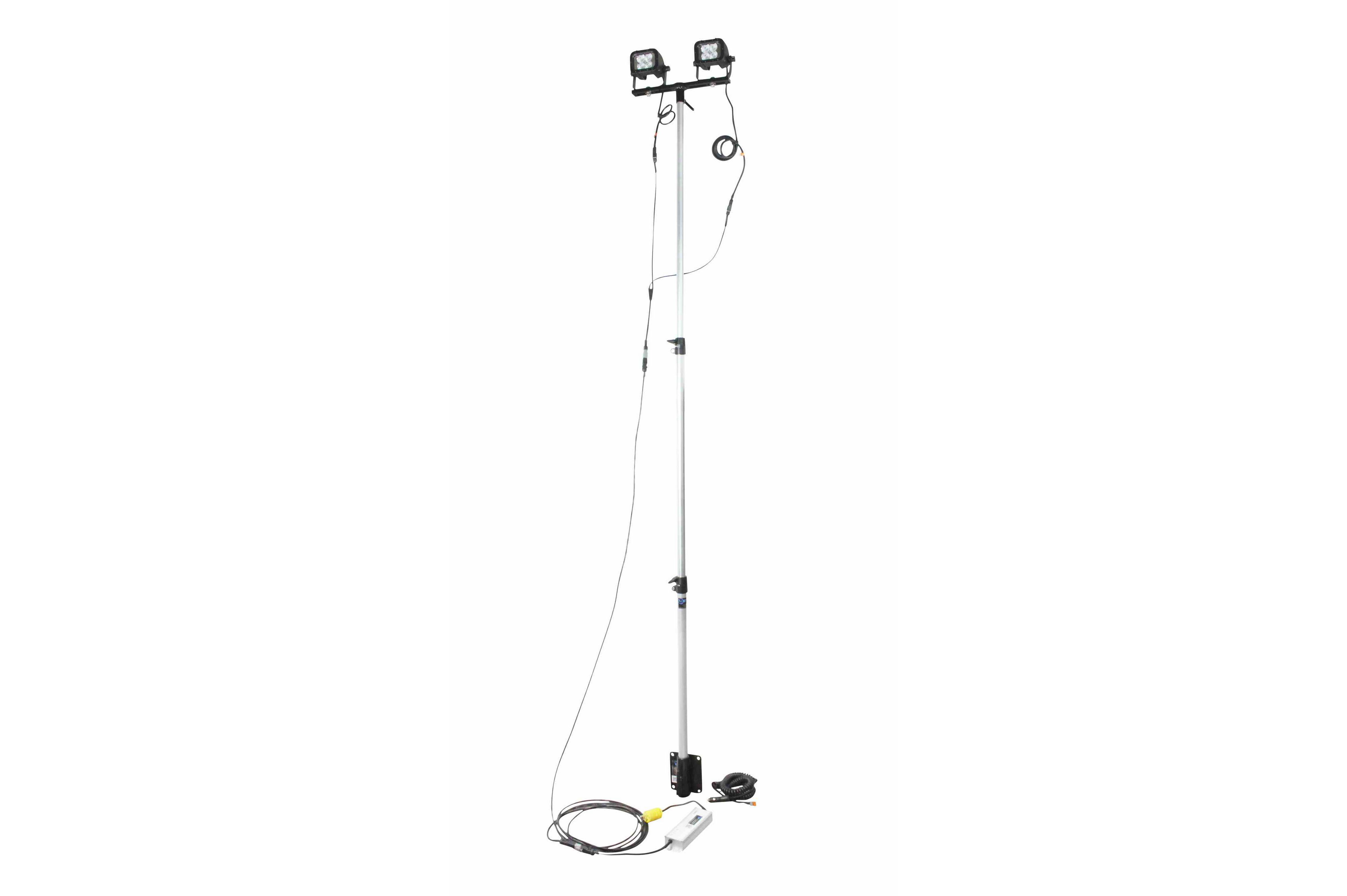 24 Watt Portable Led Telescoping Light Pole