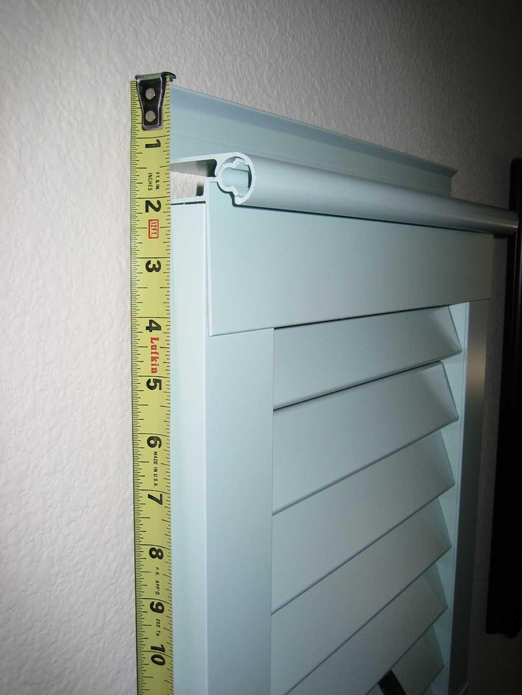 Standard View Decorative Aluminum Bahama Shutter