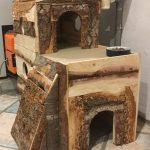 Cabane à chats rustique
