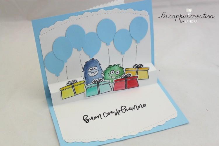 Semplice Card Pop Up Tutorial Biglietto Buon Compleanno L