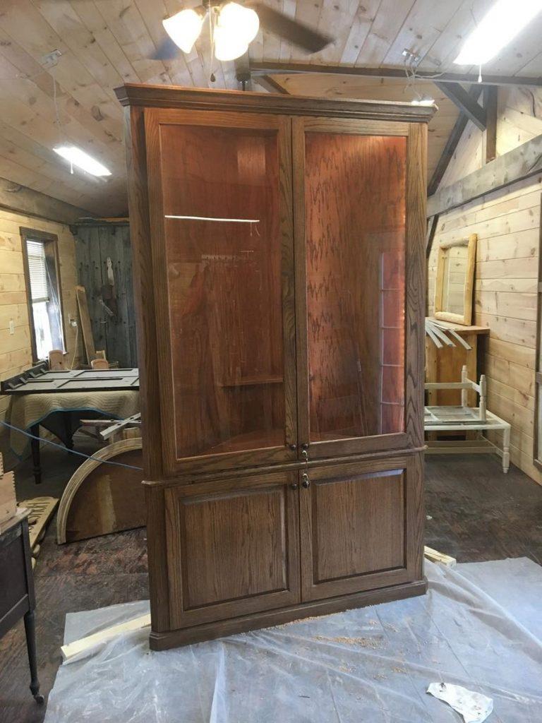 Custom Built In Corner Cabinet Saratoga County Ny