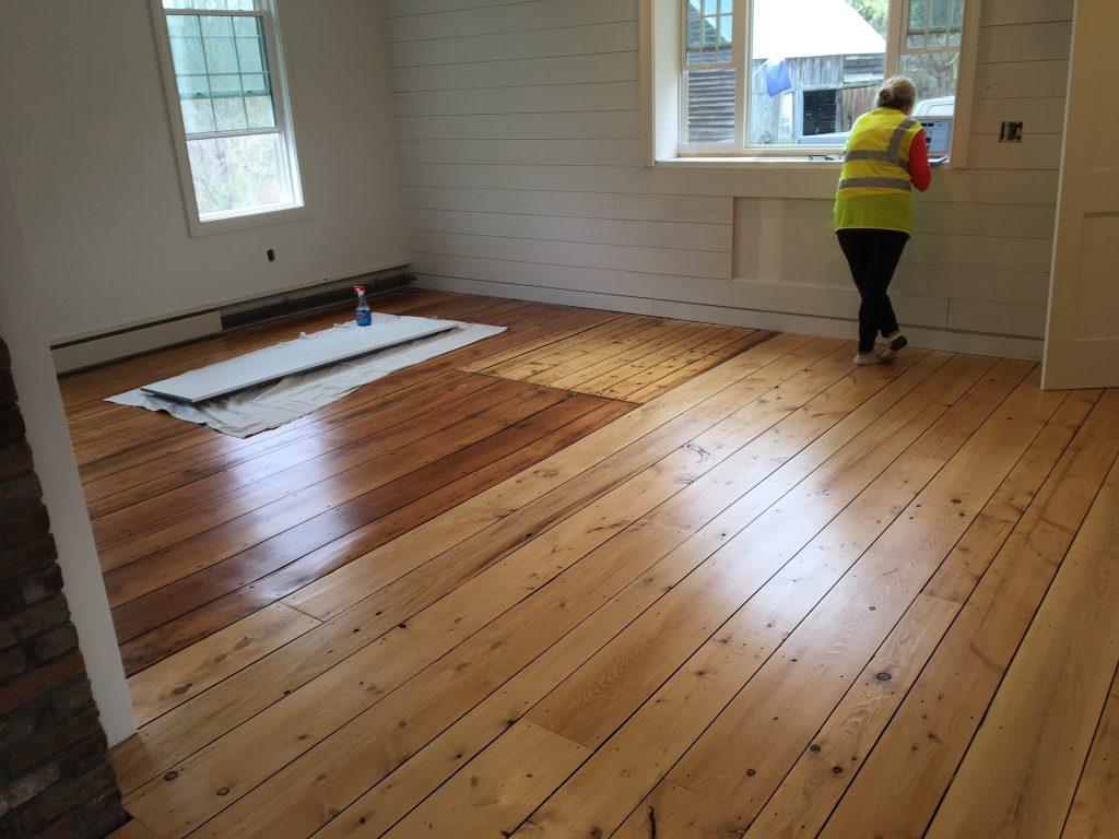 Custom Wide Plank Hemlock Floor Saratoga County Ny