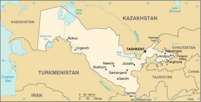 Ecco dov'è l'Uzbekistan