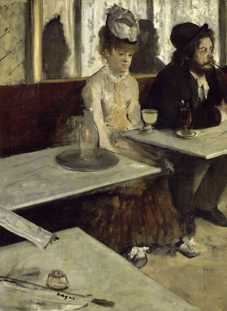 """Edgar Degas """"Dans un Café"""""""
