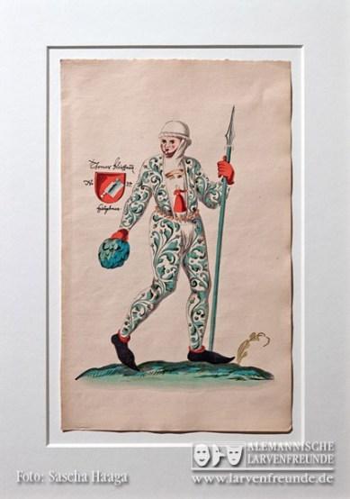 Der Narrenschopf besitzt einige schöne Grafiken von Schembart- Läufern aus Nürnberg