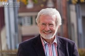 Der bekannte und beliebte Volkskunde- Pofessor Dr. Werner Mezger führte zu morgendlicher Stunde durchs Heilig- Geist- Münster in Rottweil