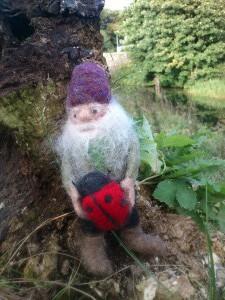 Dwarf with lady bug