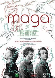 Cartel de María Hesse para el concierto de Maga.