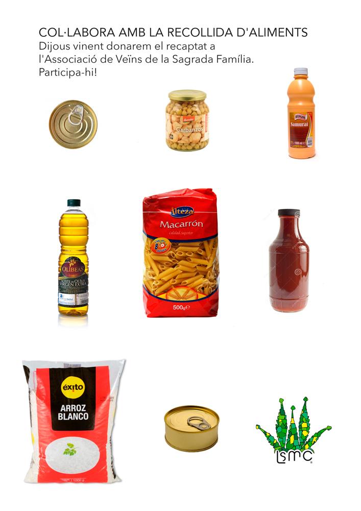 Colabora en la recogida de alimentos