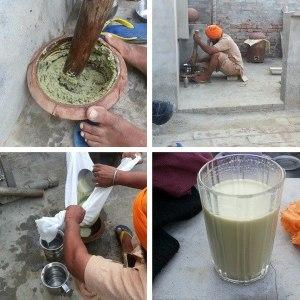 Proceso de preparación Bhang