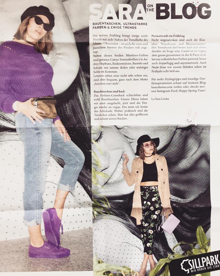 Referenzen von Sara Erb Beiträge im Sillpark Innsbruck NEXT Magazin über Modetrends
