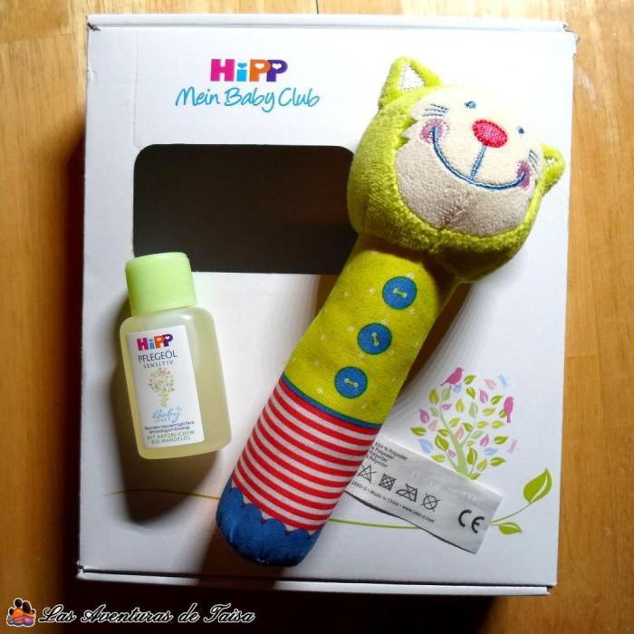 De la marca Hipp también te mandan detallitos chulos además de las muestras para el bebé