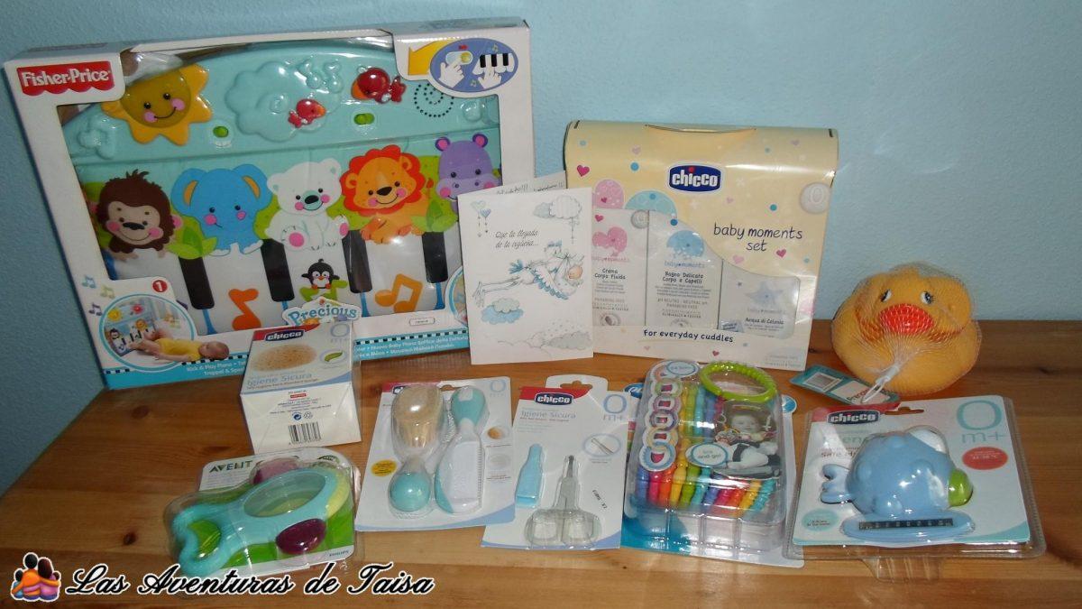 Regalitos para mi niño de parte de mis compañeros de trabajo - incluyendo jabones para el bebé