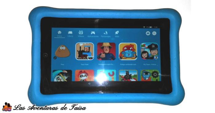 La tablet fire kids tiene acceso a un monton de juegos muy chulos