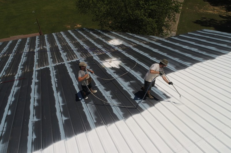 white roof installations