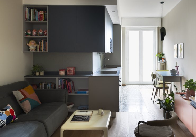 cucina libreria mobile cucina soggiorno