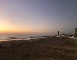 mi morena sentir el sur mi sur anochecer playa de regla en Chipiona