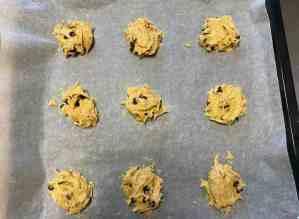 Mi morena cookies auténticas americanas bolitas preparación