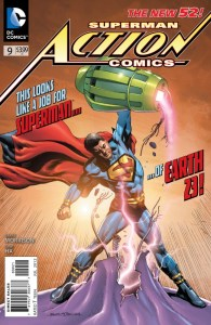 Portada alternativa de Action Comics Vol.2 #9. Por Rags Morales y Brad Anderson.