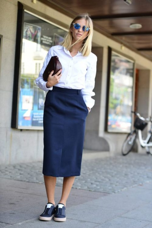 7 skirt and trainers_La Selectiva Outfits Sencillos6