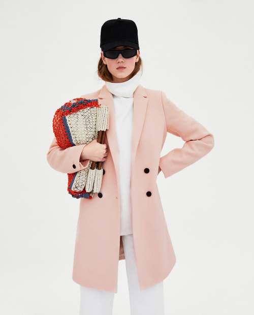 Abrigo rosa tomboy Zara