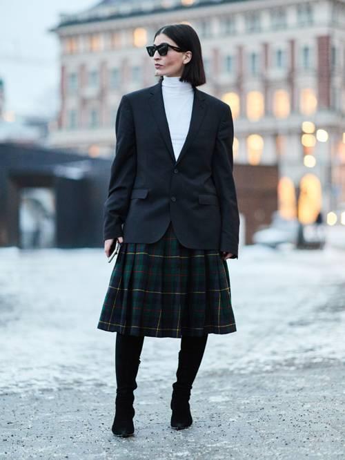 Falda de cuadros _Streetstyle